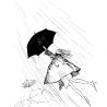 Дриго Е.Ю. «Ветер», иллюстрация к книге поэтессы Катерины Файн «Без Ничего»