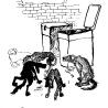 Дриго Е.Ю. «Бродячие собаки», из серии «Городские животные»