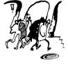 Евгения Дриго. «Встреча у метро» (иллюстрация к книге стихов  питерского поэта Стефана «В белом свете»)