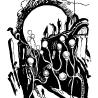 Евгения Дриго. «Цветы ночные-фонари...» (иллюстрация к книге стихов  питерского поэта Стефана «В белом свете»)