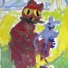 Ярослав Закржевский. «Кот с мышкой» (4 года)