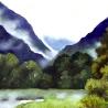 Джон Кудрявцев. «Лиловый пейзаж 2»