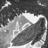Владимир Позигун. Из серии «Стрекозы и острова», «Токио. Священное дерево»